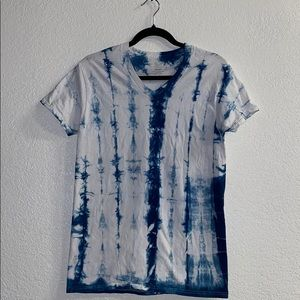 White and Blue Tie Dye Shirt